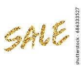 gold glitter text sale.... | Shutterstock .eps vector #686333527