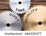 closeup of time  cost and... | Shutterstock . vector #686335477
