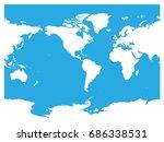 australia and pacific ocean... | Shutterstock .eps vector #686338531
