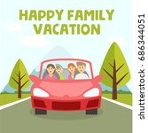 family vacation and trip... | Shutterstock .eps vector #686344051