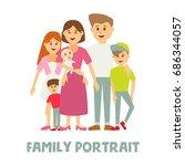 a happy family portrait | Shutterstock .eps vector #686344057