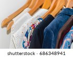 the wardrobe  closet in which... | Shutterstock . vector #686348941