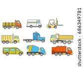 car and other vehicle icon   Shutterstock .eps vector #686349781