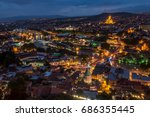night view of tbilisi  the... | Shutterstock . vector #686355445