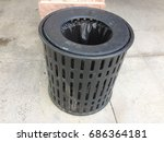 steel bin for background | Shutterstock . vector #686364181