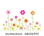 colorful flowers   Shutterstock .eps vector #68636593