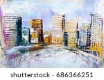 artistic painting of... | Shutterstock . vector #686366251