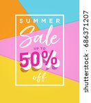 summer sale background design... | Shutterstock .eps vector #686371207