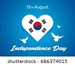 august 15  south korea... | Shutterstock .eps vector #686374015
