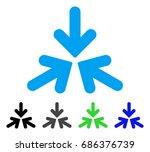 triple collide arrows flat...   Shutterstock .eps vector #686376739