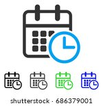 timetable flat vector icon.... | Shutterstock .eps vector #686379001