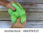fluffy slime | Shutterstock . vector #686396515