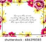 vintage delicate invitation... | Shutterstock .eps vector #686398585