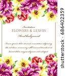 vintage delicate invitation... | Shutterstock .eps vector #686402359