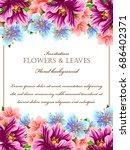 vintage delicate invitation... | Shutterstock .eps vector #686402371