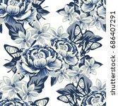abstract elegance seamless... | Shutterstock . vector #686407291