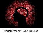 generative human head shape... | Shutterstock .eps vector #686408455