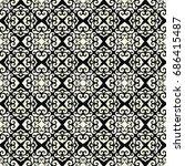 vector damask seamless pattern | Shutterstock .eps vector #686415487