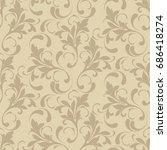 floral seamless pattern. soft... | Shutterstock .eps vector #686418274
