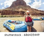 Beautiful Woman On A Rafting...