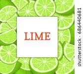 square white label on citrus... | Shutterstock . vector #686440681