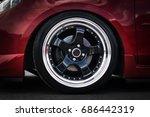 car wheel on a car close up....   Shutterstock . vector #686442319