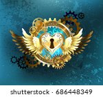 mechanical heart of the castle  ... | Shutterstock .eps vector #686448349