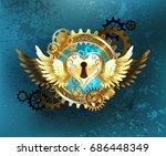 steampunk mechanical heart of...   Shutterstock .eps vector #686448349