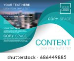 presentation layout design... | Shutterstock .eps vector #686449885