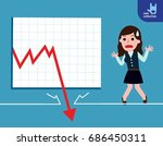 business woman be sad on the... | Shutterstock .eps vector #686450311