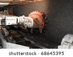 drilling machine in coal mine ... | Shutterstock . vector #68645395