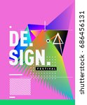 vector of triangle geometric 3d ... | Shutterstock .eps vector #686456131
