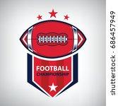sport american football logo.... | Shutterstock .eps vector #686457949