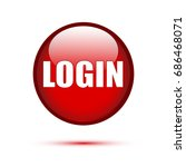 red glossy login button on...   Shutterstock .eps vector #686468071