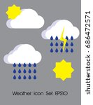 flat vector design  weather...