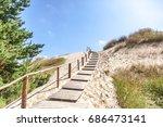 white sand dunes  nida ... | Shutterstock . vector #686473141