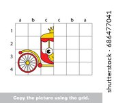 finish the simmetry picture...   Shutterstock .eps vector #686477041