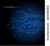 vector blue technology... | Shutterstock .eps vector #68648083