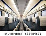 empty interior of a passenger... | Shutterstock . vector #686484631