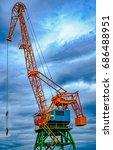 industrial old crane | Shutterstock . vector #686488951