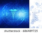 2d illustration health care and ... | Shutterstock . vector #686489725
