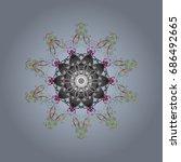 vector illustration.   rystal... | Shutterstock .eps vector #686492665