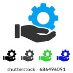 mechanic gear service hand flat ... | Shutterstock .eps vector #686496091