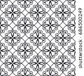 vintage monochrome seamless... | Shutterstock .eps vector #686500249