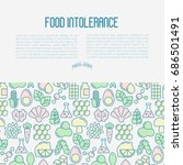 food intolerance concept with... | Shutterstock .eps vector #686501491