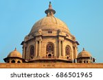 architectural detail of the... | Shutterstock . vector #686501965