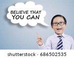 little businessman wearing... | Shutterstock . vector #686502535