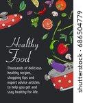 food cooking background vector... | Shutterstock .eps vector #686504779