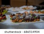 cakes from custard | Shutterstock . vector #686514904
