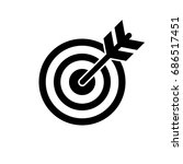 target and arrow icon. perfect... | Shutterstock . vector #686517451